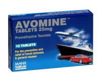 Avomine 25 mg 10 Tabl.